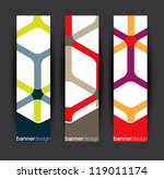 Vertical banner elements in editable vector format - stock vector