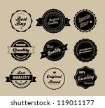 retro vintage labels in... | Shutterstock .eps vector #119011177