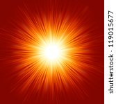 star burst red and yellow fire. ... | Shutterstock .eps vector #119015677