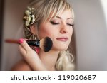 beautiful bride blond in white... | Shutterstock . vector #119020687
