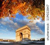 famous arc de triomphe in... | Shutterstock . vector #119022847