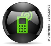 cellphone round black web icon... | Shutterstock . vector #119023933