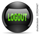 logout round black web icon on... | Shutterstock . vector #119024467
