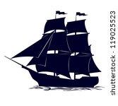 old sailing ship. illustration...