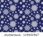 seamless snowflakes | Shutterstock .eps vector #119031967