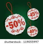 percent price tags | Shutterstock . vector #119055997
