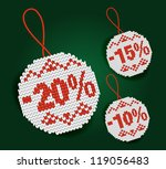 sale percent price tags | Shutterstock . vector #119056483