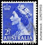 australia   circa 1954  a stamp ...   Shutterstock . vector #119075953