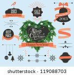 set of christmas labels  heart... | Shutterstock .eps vector #119088703