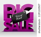 big sale text with copy space ... | Shutterstock .eps vector #119110507