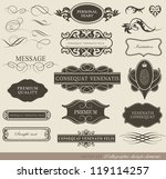 calligraphic design elements ... | Shutterstock .eps vector #119114257