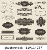 calligraphic design elements ... | Shutterstock .eps vector #119114257