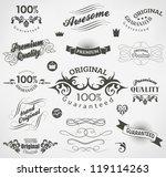 calligraphic design elements... | Shutterstock .eps vector #119114263