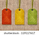 blank price tags | Shutterstock . vector #119117617