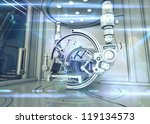 high tech laboratory with... | Shutterstock . vector #119134573