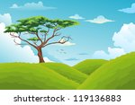 beautiful landscape background... | Shutterstock .eps vector #119136883