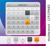 web ui calendar design on color ...