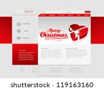 Christmas website template in editable vector format - stock vector