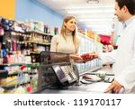 woman shopping at the...   Shutterstock . vector #119170117
