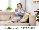 sick woman.flu.woman caught... | Shutterstock . vector #119173303