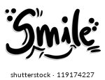 smile joke | Shutterstock .eps vector #119174227