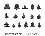 set of different christmas... | Shutterstock .eps vector #119176483
