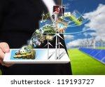 saving energy stream images...   Shutterstock . vector #119193727