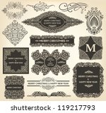 vector collection of christmas... | Shutterstock .eps vector #119217793