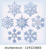 set of ornate three dimensional ... | Shutterstock .eps vector #119223883