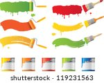 vector roller and paint brushes ... | Shutterstock .eps vector #119231563