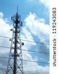 telecommunication tower. | Shutterstock . vector #119243083