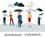 business men and women with... | Shutterstock .eps vector #119243473