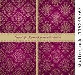 Holiday Damask Textile Pattern...