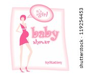 baby shower   it's a girl | Shutterstock . vector #119254453