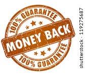 money back vector stamp | Shutterstock .eps vector #119275687
