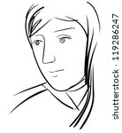sketch of woman character | Shutterstock .eps vector #119286247