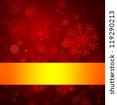 red winter background | Shutterstock . vector #119290213