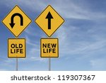 conceptual road sign about... | Shutterstock . vector #119307367