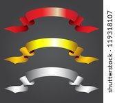 ribbons retro style set. vector ... | Shutterstock .eps vector #119318107