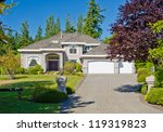 big custom made three garage... | Shutterstock . vector #119319823