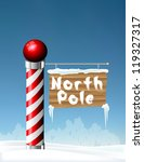 north pole sign eps10 | Shutterstock .eps vector #119327317