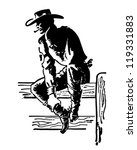 Rodeo Cowboy   Retro Clipart...