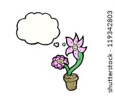 flowers with thought bubble | Shutterstock .eps vector #119342803