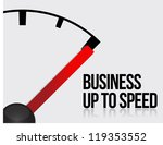 Business up to speed concept illustration design over white - stock photo