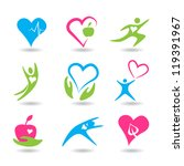 nine icons symbolizing healthy... | Shutterstock .eps vector #119391967