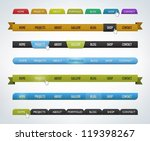 collection of various... | Shutterstock .eps vector #119398267