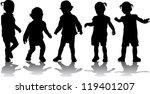 group of children's silhouettes   Shutterstock .eps vector #119401207