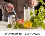 preparing healthy food   Shutterstock . vector #119409607