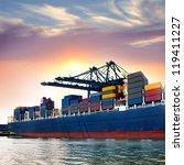 cargo sea port. sea cargo... | Shutterstock . vector #119411227
