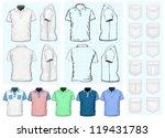 vector. men's polo shirt design ... | Shutterstock .eps vector #119431783